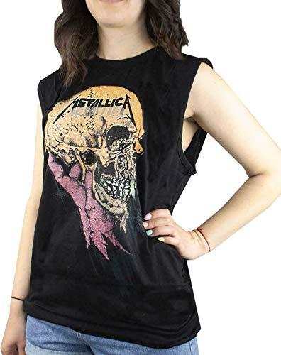 Amplified Metallica Sad But True Women's Sleeveless T-Shirt (M)