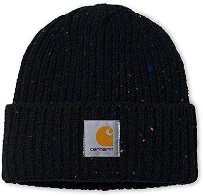 Carhartt WIP Anglistic Beanie Gorro de Invierno Unisex con Pegatina 7kmh