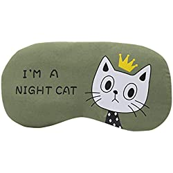 mxjeeio Schlafmaske Augenmaske Karikatur Katze Schlafbrille Kalt Warmhaltepackung Schlafbrille Schlafen Maske, ideal für Reisen Nickerchen Nacht Schlafen Maske