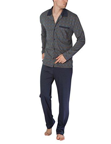 Calida Herren Zweiteiliger Schlafanzug George Pyjama Mehrfarbig (Bronce 907)