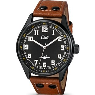 Men's Tan Pilot Style Strap Watch (331656744) Best Price and Cheapest