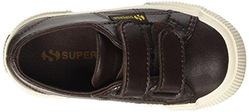Superga  2750-Microfiberpuvj, Chaussures - Prime enfance (1-10 mois) Unisexe - enfants de 0 à 24 mois Marron - Marrone (Brown Dk Chocolate)