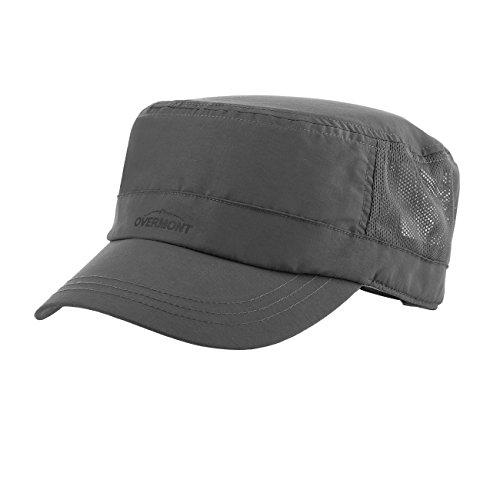 Overmont Einstellbar Atmungsaktiv Schnelltrocknend Sonnenschutz Flache Top Hut Baseballcap Militärmütze für Frauen Männer Camping Reisen Wandern Baseball Outdoor Sport