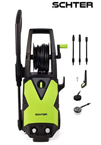 HomeKraft Hochdruckreiniger / Terrassenreiniger Schter 1500 W,120 Bar, 1 Stück, schwarz / grün, 5902533901135 -