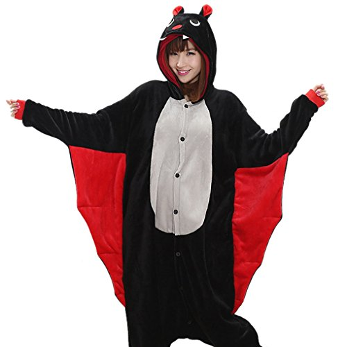 Happy-Cherry-Pijama-Animal-Adulto-Disfraz-de-Cortoon-Animal-una-pieza-con-Capucha-para-Hombre-Mujer-Disfraces-de-Cosplay-Halloween-Navidad-Jirafa-Burro-Rana-Unicornio-Bate-Bho-Talla-S-M-L-XL