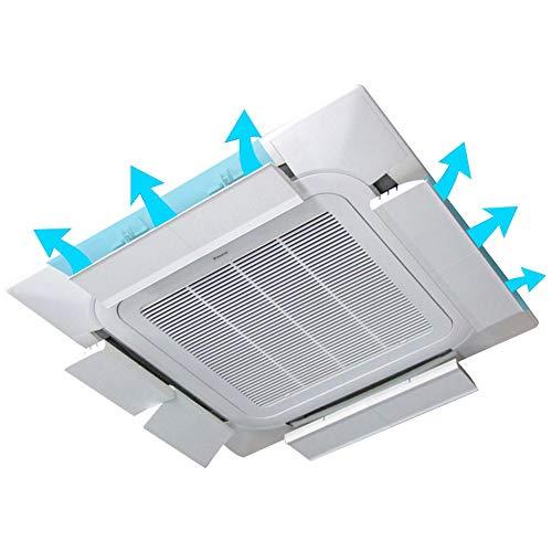 yummyfood Klimaanlage Windschutzscheibe Luftleitbleche, Windabweiser Für Kalten Wind Anti - Straight Blown Baffle Luftumlenkung Für Bürodeckenlüfter, 52x13cm -