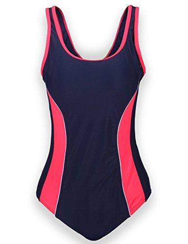 Aidonger Damen Verbindung Farben Badeanzug Knalliger Farbe Wettkampfanzug 1 Piece (Sport Bügel Badeanzug)
