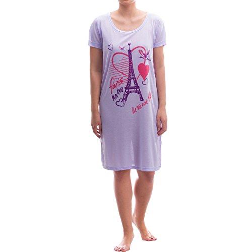 Romesa big t-shirt schlafshirt liebesgrüße de l'amour paris Violet - Lilas