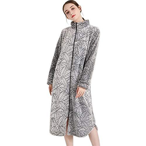 Tina Moda Coral Terciopelo Cremallera Dormir túnicas