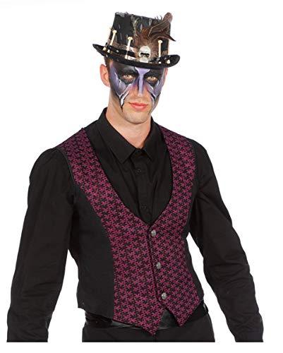 Horror-Shop Klassische Kostüm Weste für Teufel & Cowboy Verkleidungen ()