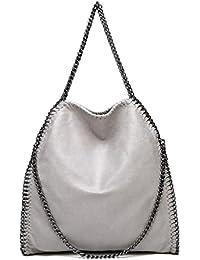8aec29be1 TOYIS - Bolso de mano para mujer, correa de cadena, grande, casual, de piel  sintética, bolso de hombro para la…