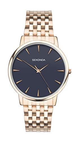 Sekonda orologio da uomo braccialetto color oro rosa 1431