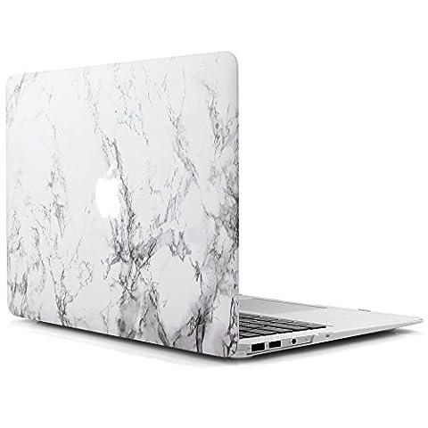 iDOO MacBook Schutzhülle / Hard Case Cover Laptop Hülle [Für MacBook Air 13 Zoll: A1369/A1466] (Rivestita Di Gomma Di Caso)