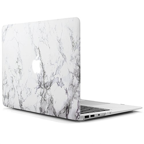 idoo-hard-case-for-macbook-air-13-inch-a1369-a1466-matte-frosted-rubber-coated-hard-shell-white-marb