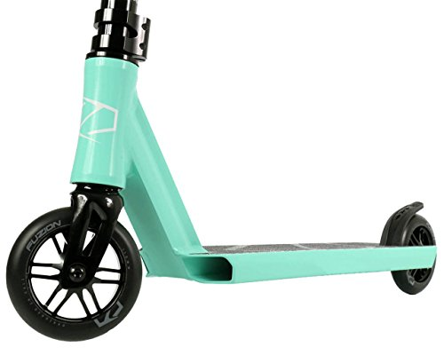 You get what you pay for. The package includes highly durable chromoly bars, 110mm PU+cast aluminium wheels, TG-6061 aluminium deck, and triple head clamp, just to mention the quality features.