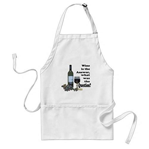 Grembiule da cucina per donne Wine is the answer what was The question regali modello grembiuli per ragazze collo regolabile in vita. Grembiule da cucina per gli uomini