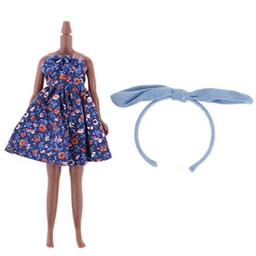 MagiDeal Flexible 7 Gelenke Nackt Körper mit Kleidung Anzug Für 12 Zoll Weibliche Puppen - # D (Nackten Körper Anzug)
