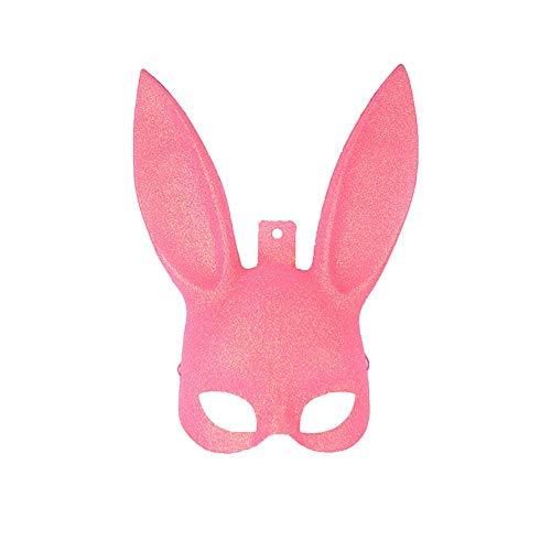 unkelnde Maske Bunny Bunny Bunny Maske Halloween Abend kostüme für Frauen Cosplay Männer Rosa Langlebig und Praktisch ()