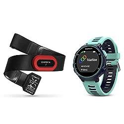 Garmin Forerunner 735XT-GPS-Uhr, frost blau, M, 010-01614-16