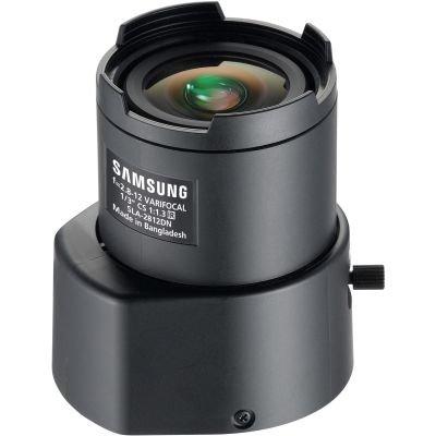 SS423 - SAMSUNG SLA-2812DN CCTV CAMERA LENS 2.8 ~ 12MM CS-MOUNT AUTO IRIS DC DRIVE VARIFOCAL 410K PIXEL RESOLUTION MANUAL FOCUS & ZOOM by Samsung -