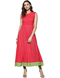 [Sponsored]Indian Virasat Peach Color Full Length Anarkali Kurta