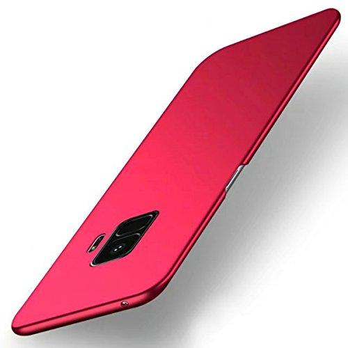 Funda Samsung Galaxy S9 Plus, TIANQIN Ultra-Delgado Carcasa Protectora Ultra Ligera PC Plástico Duro Case Anti-Rasguños Parachoque Estilo Simple para Samsung Galaxy S9 Plus Estuche - Rojo