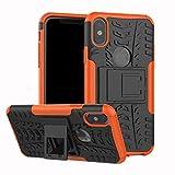 JFSH Coque arrière Robuste et épaisse Antichoc Hybride Anti-Choc pour iPhone X,...