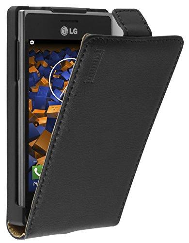 mumbi PREMIUM Leder Flip Case für LG E610 Optimus L5 Tasche