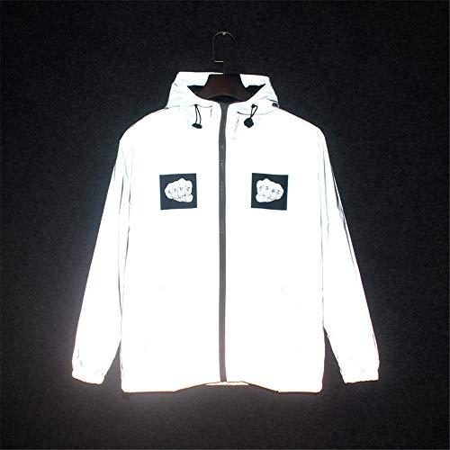 Chaqueta de abrigo reflectante Chaqueta reflectante de ciclismo para hombres y mujeres de alta visibilidad...