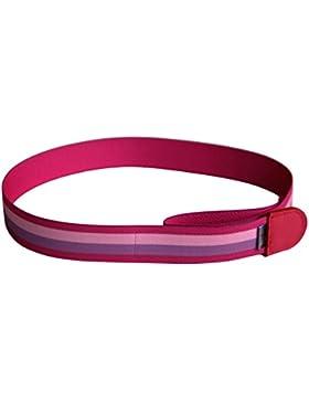Ed&Kids Kindergürtel ohne Schnalle | Streifen pink | elastisch | größenverstellbar | Made in Germany