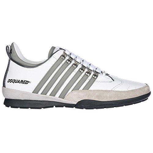 Dsquared2 Herrenschuhe Herren Leder Schuhe Sneakers 251 Weiß EU 43 SNM0131 11570001 M182