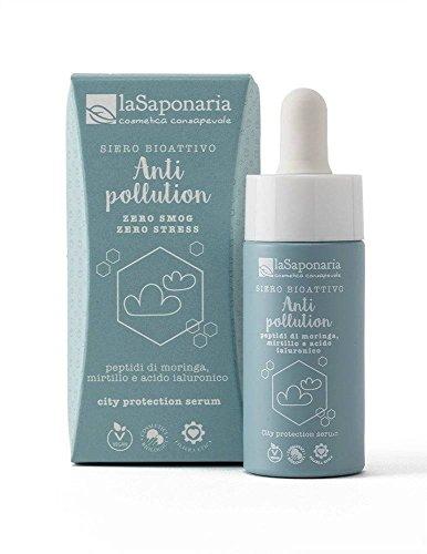 LA SAPONARIA - Siero Bioattivo Anti-Pollution - Ecobio - Protettivo contro gli effetti dell'inquinamento - Effetto purificante - Vegan - 15ml