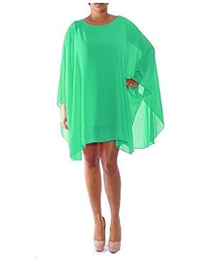 Top donna a maniche lunghe a pipistrello chiffon oversize, estate, vestito da donna, camicetta da donna tunica