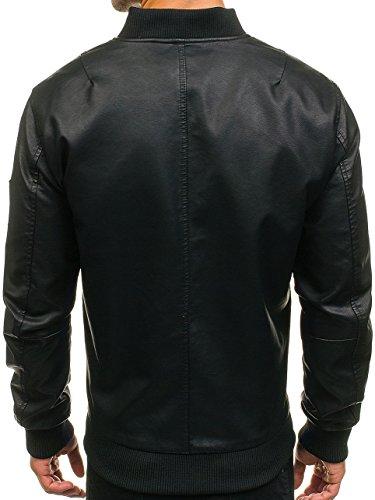 BOLF – Giacca con cappuccio – Ca Logo – Con cerniera – Uomo [4D4] Sport Nero