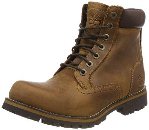 Timberland Herren Rugged 6 Inch Plain Toe Waterproof Klassische Stiefel, Braun (Medium Brown), 39.5 EU 6-zoll Plain Toe Boot