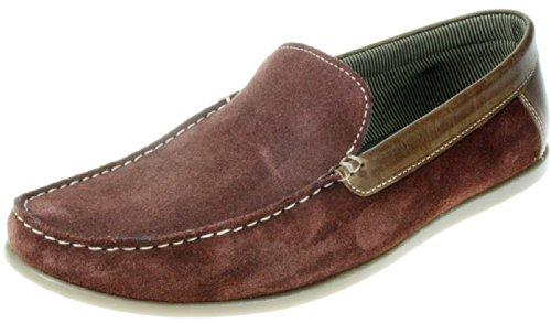 Homens Frome, Vermelho, Cinza, Azul Marinho, De Borgonha, Chinelo, Camurça Mocassim Sapatos Castanhos