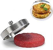 JUFEN الفولاذ المقاوم للصدأ محشو برغر الصفير، صانع فطائر الهامبرغر الألومنيوم ، قالب هامبرغر مثالي للشواء، الم