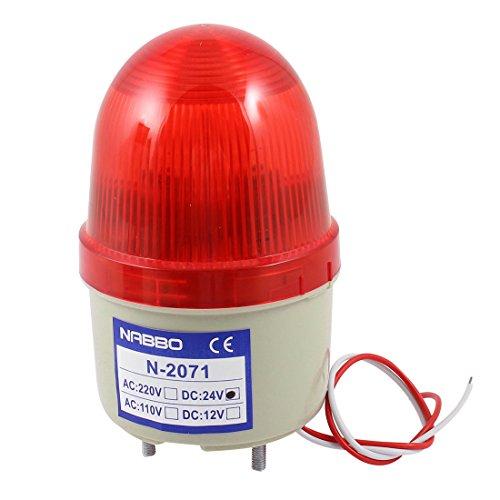 sourcingmap® DC 24V Industrie-LED-Blitz Stroboskop Notfall Kontrolllampe Rot N-2071 de