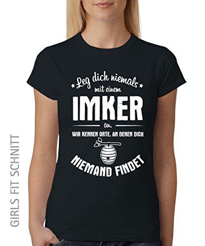 Leg-dich-niemals-mit-einem-Imker-an-Girls-T-Shirt-auch-im-Unisex-Schnitt