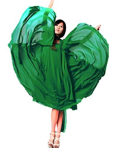 Zeagoo Sexy chiffon lange festlich Kleider damen elegant lang Cocktailkeid partykleid Ballkleid Brautkleider Grün
