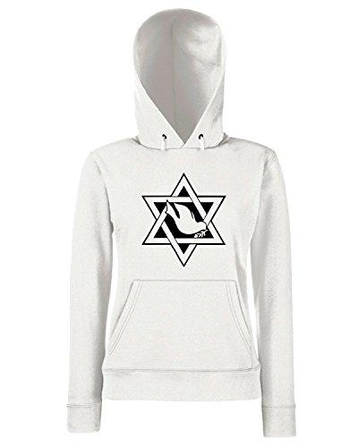 T-Shirtshock - Sweats a capuche Femme FUN0436 1902 religious stickers 01 15502 Blanc