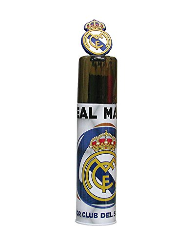REAL MADRID CF® Tubo Metal con 15 Pinturas Real Madrid
