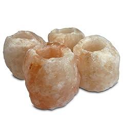 Idea Regalo - Geofossils Set di 4 portacandele in sale himalayano