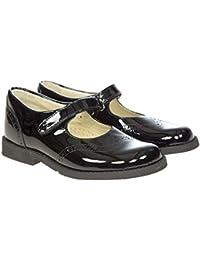 2380c2c87a66f4 Panache Kids Girls Maxine Mary Jane Leather School Shoes