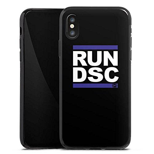 Apple iPhone 7 Hülle Case Handyhülle Arminia Bielefeld Fanartikel DSC Fußball Silikon Case schwarz