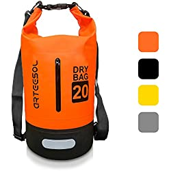BKSTONE Bolsa Impermeable, Dry Bag/Mochila acuática/Bolsa de Supervivencia/Mochila Seca/Ideal para Kayak, Canoa, Pesca (Naranja, 5L)