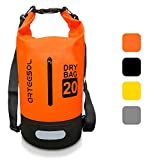 BKSTONE Borsa impermeabile, 100% impermeabile Dry Bag con Tracolla Regolabile, per Attività all'Aperto e Sport d'Acqua Nave, Trekking, Kayak, Canoa, Pesca, Rafting, Nuoto, Campeggio, Sci -10L / 20L