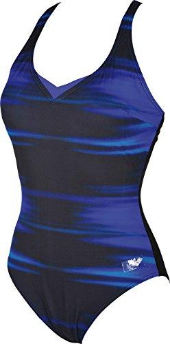 arena Kate Light Cross Back C-Cup One Piece Swimsuit Women Bright Blue-Black Größe DE 40   US 36 2018 Schwimmanzug (Badeanzug Womens Back Cross)