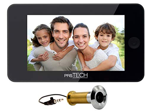 prsTECH® DoorCAM DC2 PLUS Wide Screen, Digitaler-Türspion 4,3 Zoll LCD Display für Türstärken von 38-110mm Wide Lcd