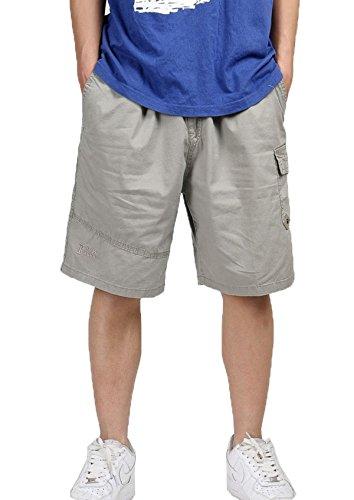 Pocket Cuffed Capris (Herren zuzüglich Size Five-HosenHerrenuhr Kurzschlüsse lässig outdoors/Sport/Beach Capris Höschen Khaki 5XL)